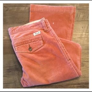 ABERCROMBIE & FITCH Rusty Peach Corduroy Jeans
